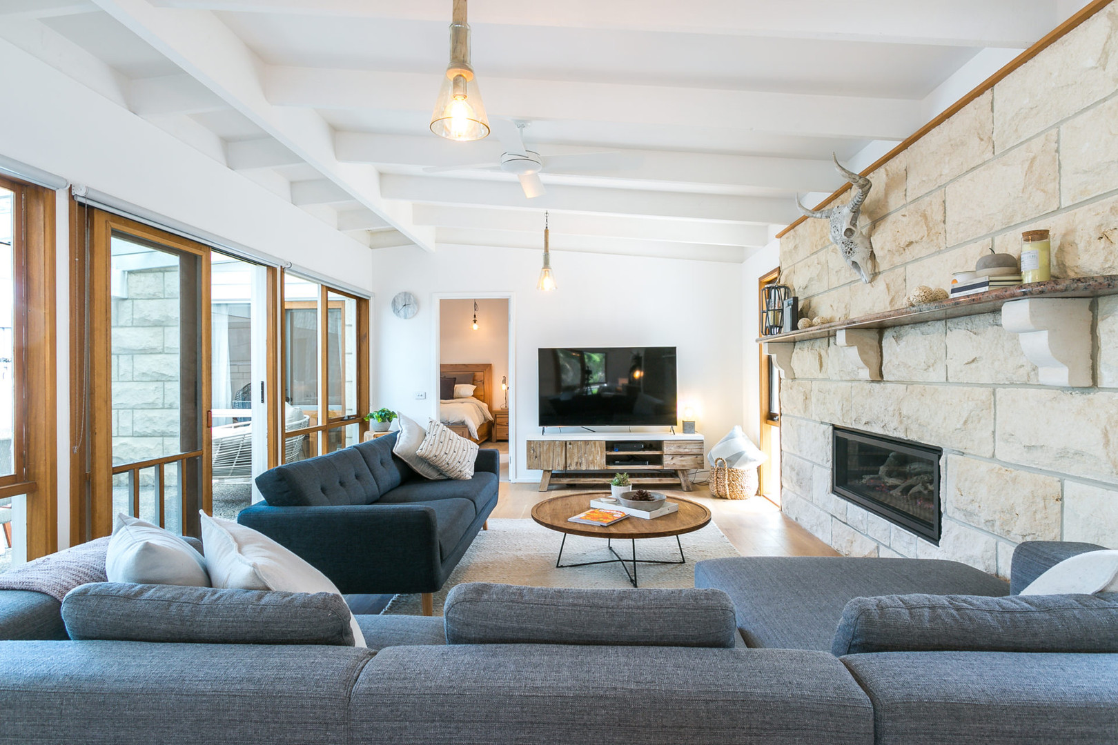 Living area with super comfy couches