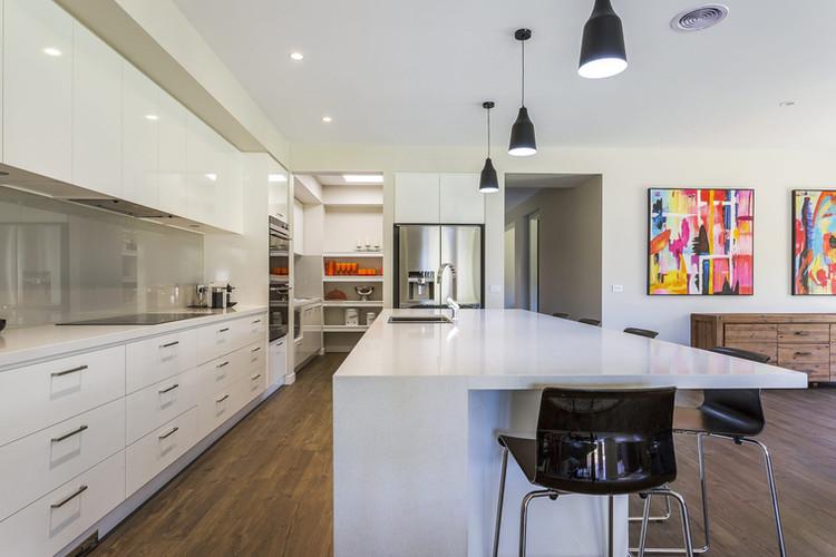 Modern kitchen with stone benchtops