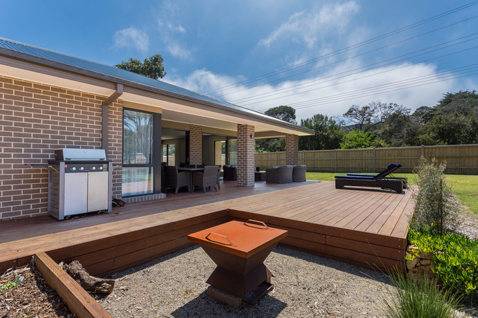 Outdoor entertaining and BBQ deck