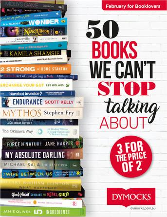 Dymocks 50 Books catalogue