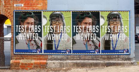 Wattyl Test Lab street posters