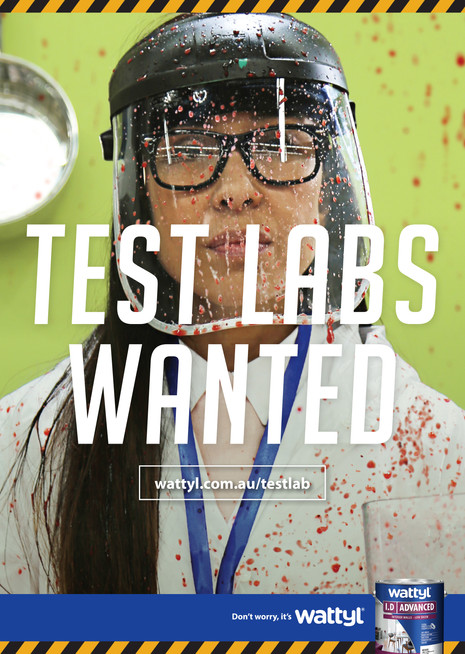 Wattyl Test Labs Wanted poster 2