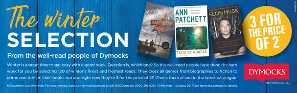 Dymocks Winter strip ad