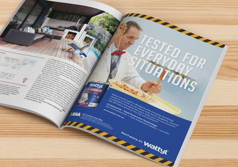 Wattyl Test Lab magazine ad