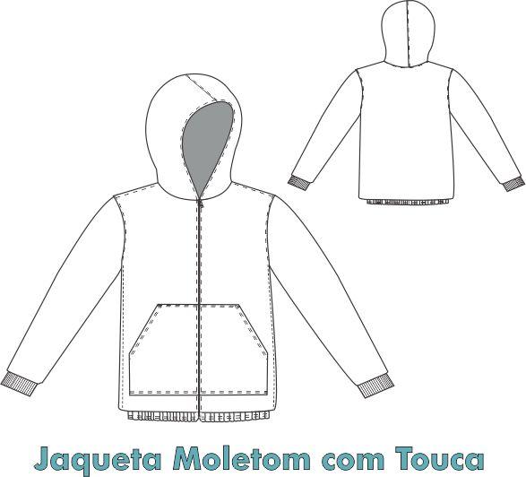 Jaqueta Moletom com Touca