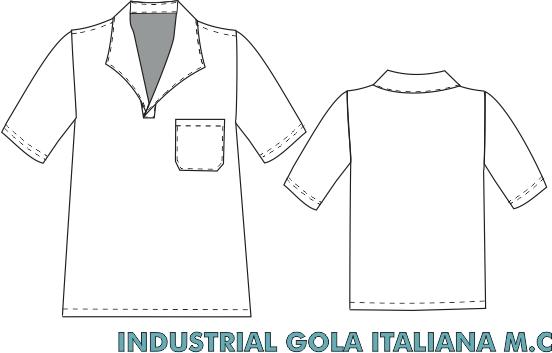 Camisa Gola Italiana Manga curta