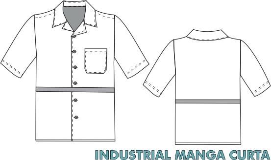 Camisa Industrial manga curta
