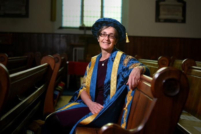Dr Helen Pankhurst at the University of Suffolk