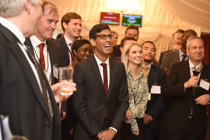 Rishi Sunak, the Chancellor, at the Local Government Association's Parliamentary reception