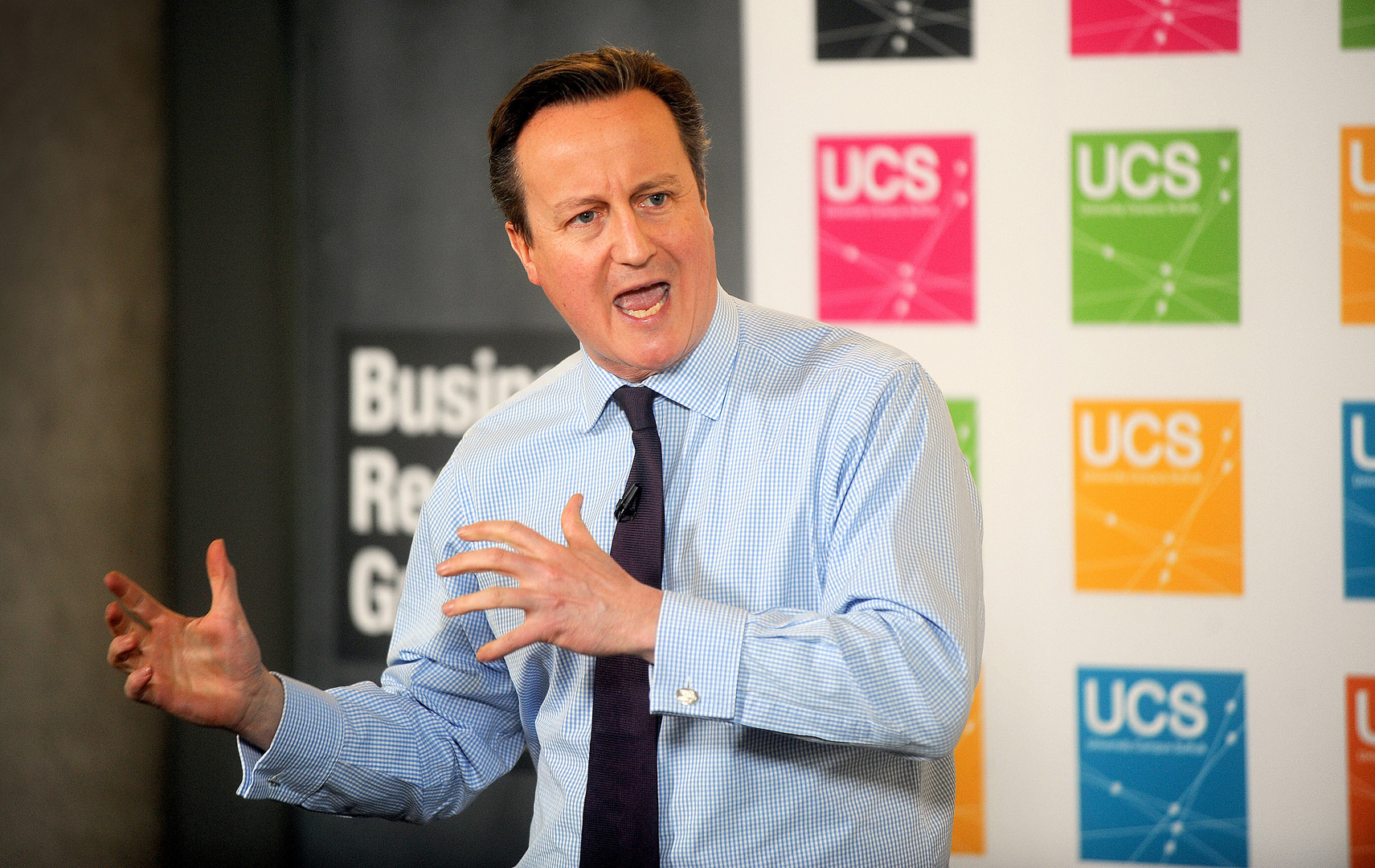 David Cameron speaking at the University of Suffolk