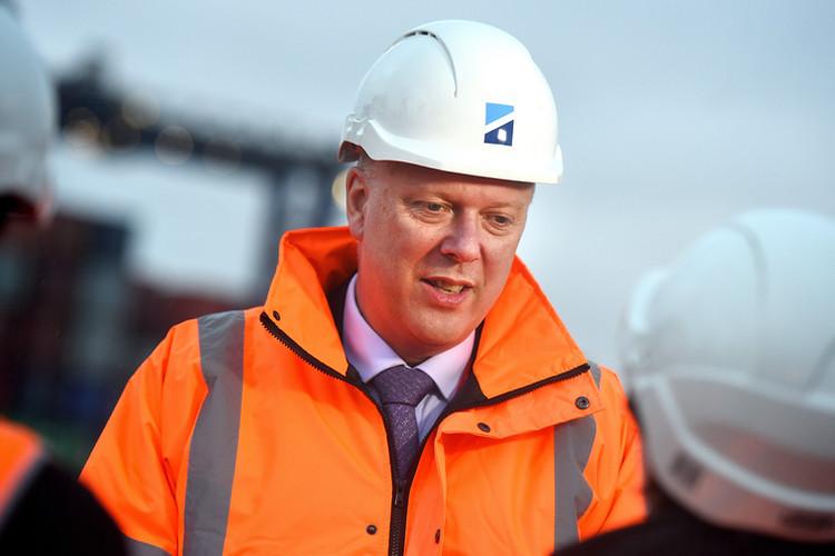 Chris Grayling MP visiting Felixstowe docks