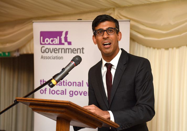 Rishi Sunak, the Chancellor, speaking at the Local Government Association's Parliamentary reception