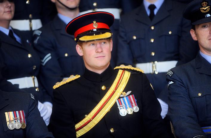 Prince Harry at an RAF base