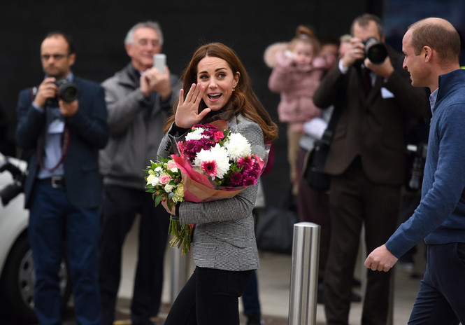 The Duchess of Cambridge visiting a leisure centre for Sport England