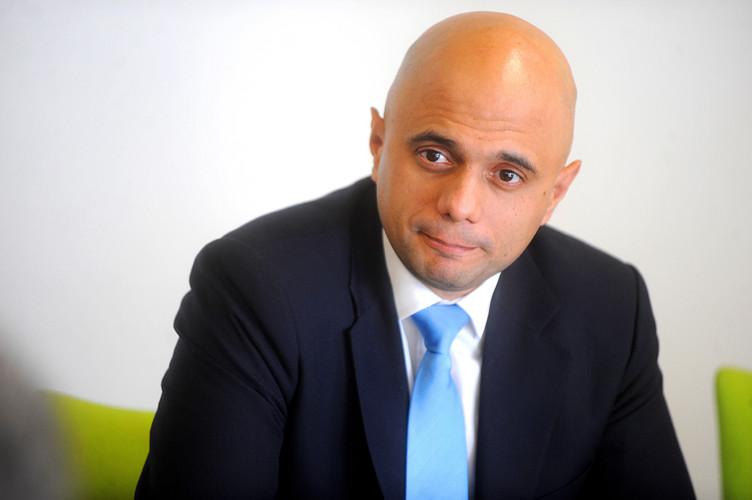 Sajid Javid at a meeting