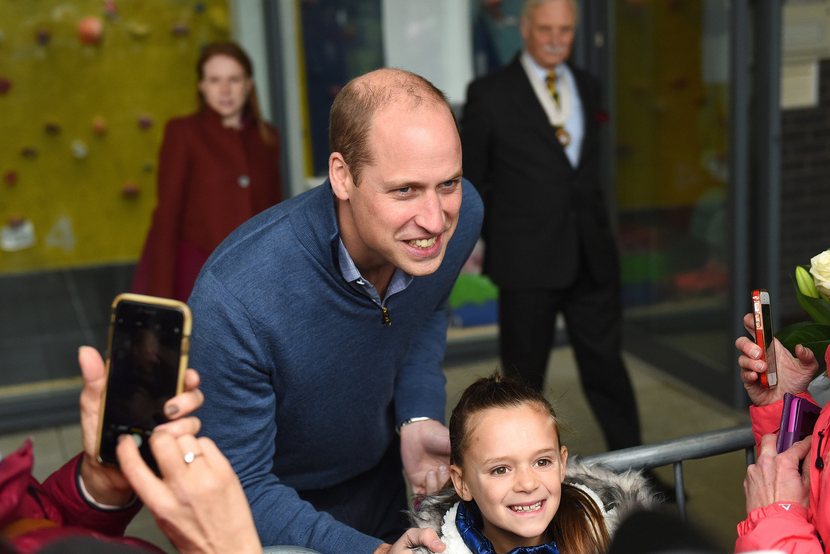 The Duke of Cambridge visiting a leisure centre for Sport England