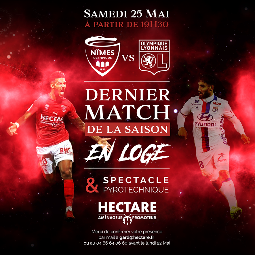 Invitation_Nîmes_VS_Lyon
