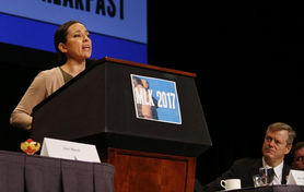 Sen. Chang-Díaz delivers speech at MLK breakfast