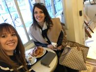 Having breakfast with my beautiful sister