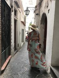 Walking around Capri, July 2017