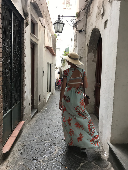 Walking around Capri, July 2017