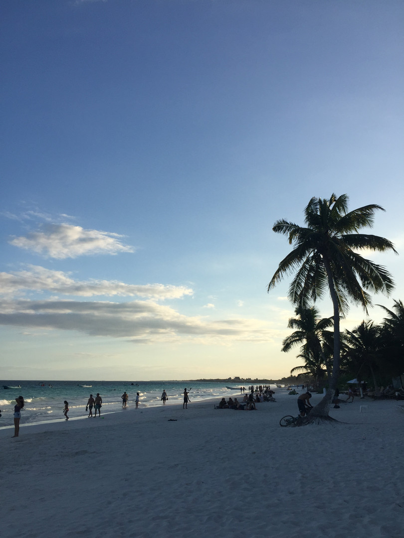 Beautiful Sunset in Tulum, Nov 2017