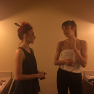 In her dressing room with incredible dancer and friend Celine Cassone