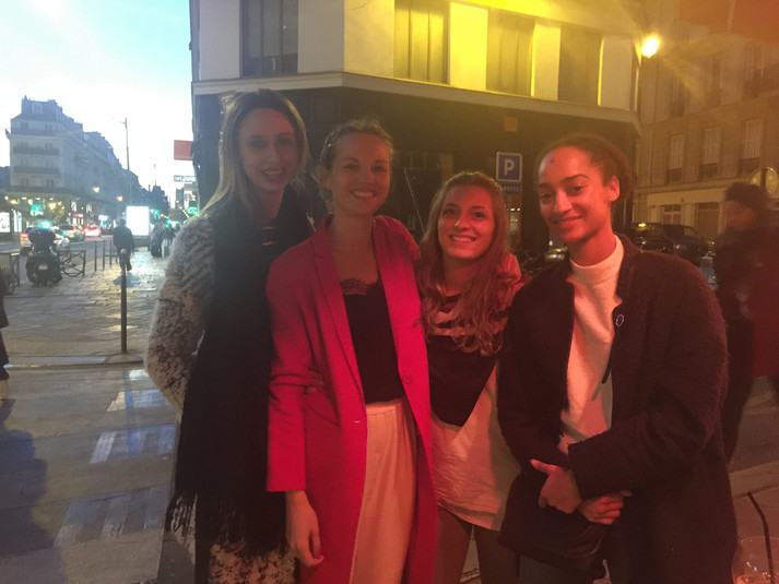 With my cousin Marion, Charlotte, and my friend Letizia