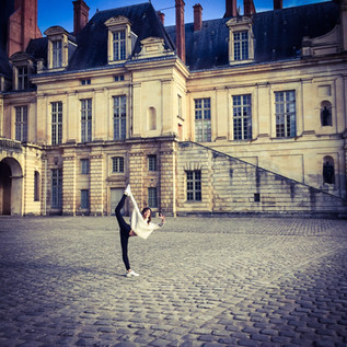 Stretching at Home in Fontainebleau