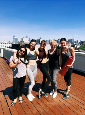 Rooftop Yoga with my Williamsburg squad