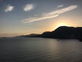 Sunset on the Amalfi Coast, July 2017