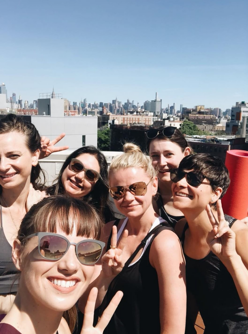 Rooftop Yoga with my Williamsburg gang