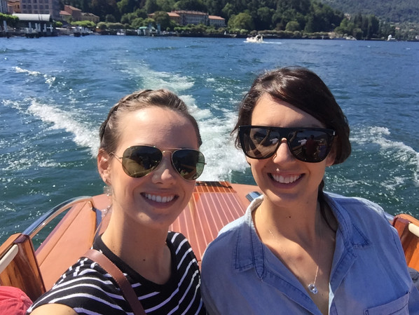 With my sister on lake Como for our annual family vacation, July 2017