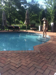 Chilling by the pool in Pennsylvania