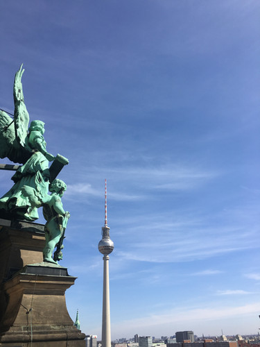 My friend took me to the top of the Berlin Cathedral - April 2018