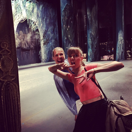 Backstage at The Metropolitan Opera With High School best friend NJ
