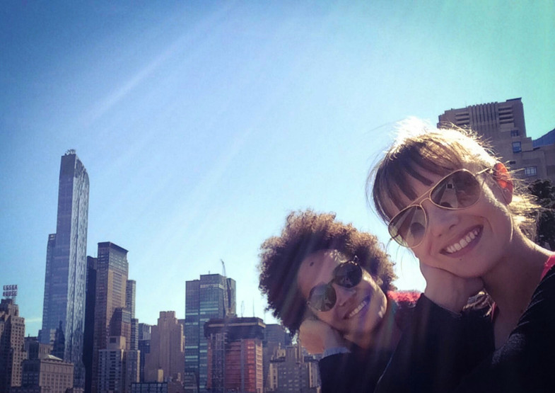 With Bestie Letizia Galloni on a NY Rooftop