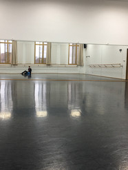 Taking class in my hometown ballet school, where I danced until I was 15