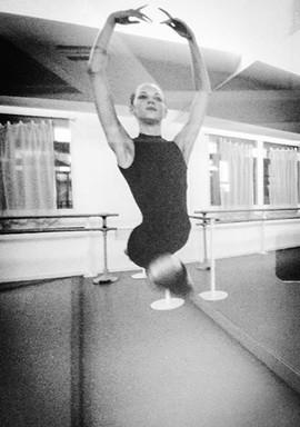 As a baby ballerina in Paris at 16