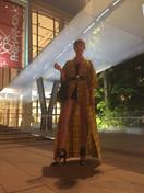At the Met wearing my vintage Kimono June 2017