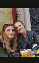 With Charlotte at Pickclops in Le Marais (always)