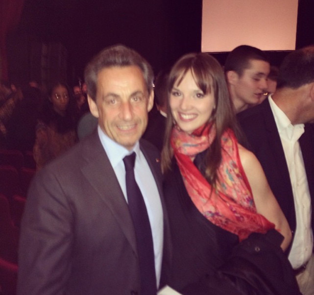 In NYC with French President Nicolas Sarkozy - 2015