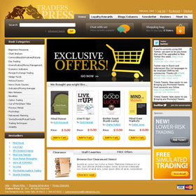 Traders Press Website  Traders Press was aquired by Wasendorf and Associates in 2010. With the aquisition came an extensive library of trade-related publications. We were responsible for designing and constructuing an ecommerce website that would facilitate the sale of more than 500 publications.
