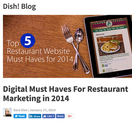 Dish! Blog   Martin Bros. Distributing needed a way to increase their digital footprint. As their Marketing Director I established the Dish! brand that included a printed publication and blog that was integrated with the Hubspot CRM platform.