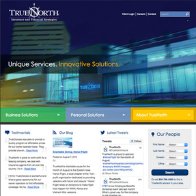 TrueNorth Website Redesign  While at Spinutech, I had to opportunity to consult with a variety of clients to improve their digital footprint.