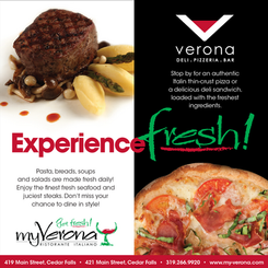 MyVerona Brand  Cedar Falls favorites, MyVerona and Verona Deli were included in the Wasendorf family of companies. Although it was a new industry, my team and I were able to execute a strong brand and reputable customer experience that is missed to this day.