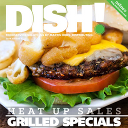 Dish! magazine   Dish! magazine originated as a redesign from the standard sales sheets that were delivered by Martin Bros Distributing sales professionals. Diversifying the content and increasing the professionalism of the design has increased brand quality perception.