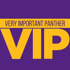UNIBusiness Day VIP Campaign  The Very Important Panther (VIP) campaign launched on UNIBusiness Day in 2017 as a way to enhance the 'Disney effect' we try to achieve with all of our events. The pass and lanyard lanyard was a symbol of pride for prospective students and it was also good for 20% off at University Book and Supply.