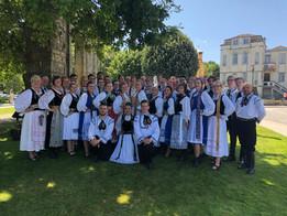 Vereinigte Siebenbürgische Tanzgruppe bei der Europeade in Portugal