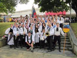 Siebenbürgische Tanzgruppen bei der 53. Europeade in Belgien
